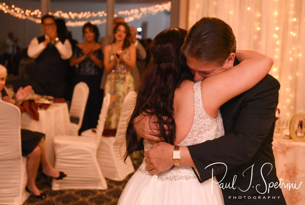 Lizzy and her father dance during her September 2018 wedding reception at Crystal Lake Golf Club in Mapleville, Rhode Island.