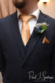 A look at Gunnar's suit prior to his December 2018 wedding ceremony at McGoverns on the Water in Fall River, Massachusetts.