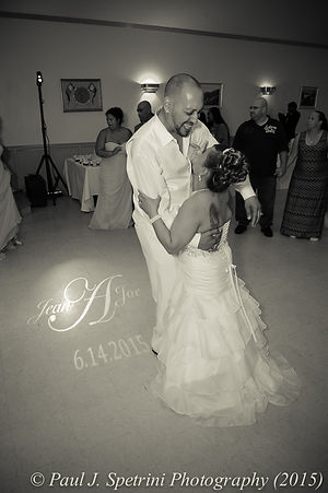 Joe and Jean Andrade dance at the end of their wedding