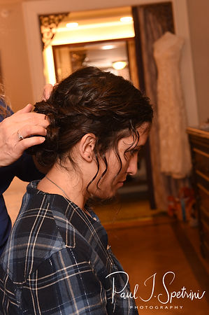 Amanda gets her hair done prior to her October 2018 wedding ceremony at the Walt Disney World Swan & Dolphin Resort in Lake Buena Vista, Florida.
