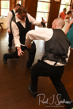 Mark dances during his August 2018 wedding reception at the Roger Williams Park Casino in Providence, Rhode Island.