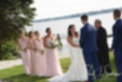 Miranda looks at Michael during her August 2018 wedding reception at the Squantum Association in Riverside, Rhode Island.