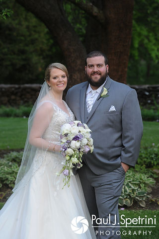 Melissa and Jordan pose for a formal photo following their May 2017 wedding ceremony at Independence Harbor in Assonet, Massachusetts.