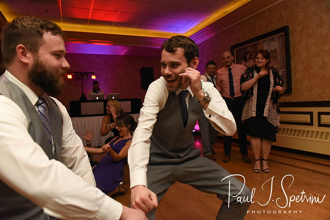 Sam dances during his April 2018 wedding reception at Quidnessett Country Club in North Kingstown, Rhode Island.