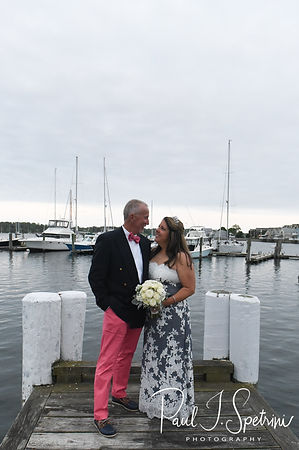 Mike & Kate pose for a formal photo during their May 2018 wedding reception at Regatta Place in Newport, Rhode Island.