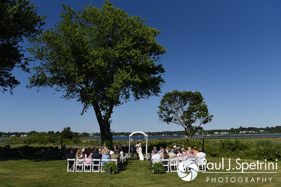 A look at the ceremony site for Bob and Debbie's June 2016 wedding in Barrington, Rhode Island.