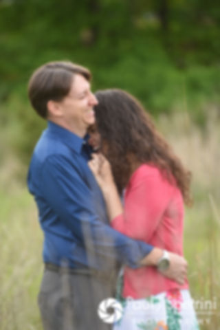 Amanda and Josh share a moment at Scalloptown Park in East Greenwich, Rhode Island during their May 2017 engagement photo session.