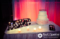 A look at the cake table at Maria and Sebastian's March 2016 wedding reception at Falores Restaurant in Pawtucket, Rhode Island.