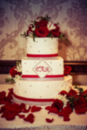 Cathy and Ron's cake during their December 2015 Rhode Island wedding