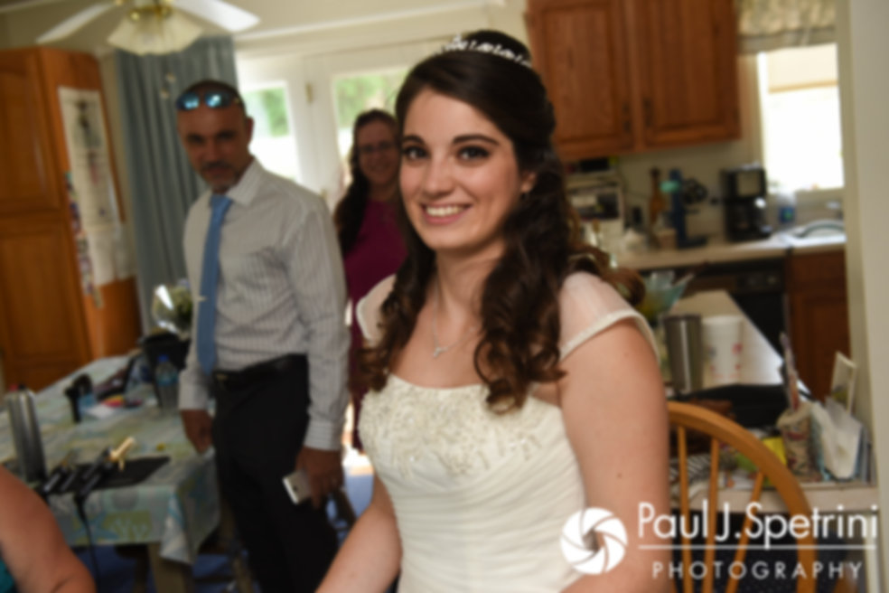 Gianna smiles prior to her July 2017 wedding ceremony at Peace Dale Congregational Church in South Kingstown, Rhode Island.