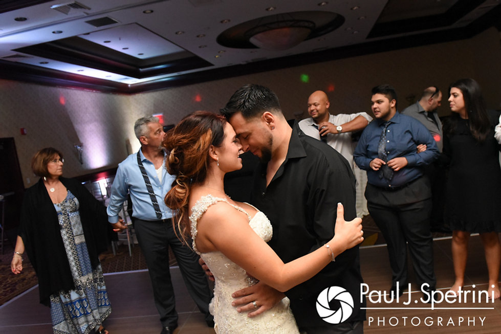 Dallas and Nicky dance during their September 2017 wedding reception at the Crowne Plaza Hotel in Warwick, Rhode Island.