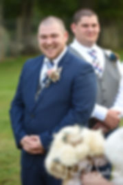 Adam smiles as he sees Ashley during his September 2018 wedding ceremony at Stepping Stone Ranch in West Greenwich, Rhode Island.