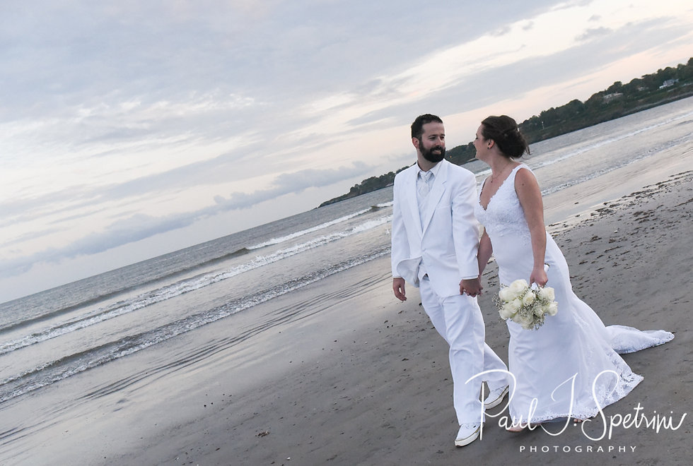 Mike & Selah pose for a formal photo following their August 2018 wedding ceremony at The Rotunda Ballroom at Easton's Beach in Newport, Rhode Island.