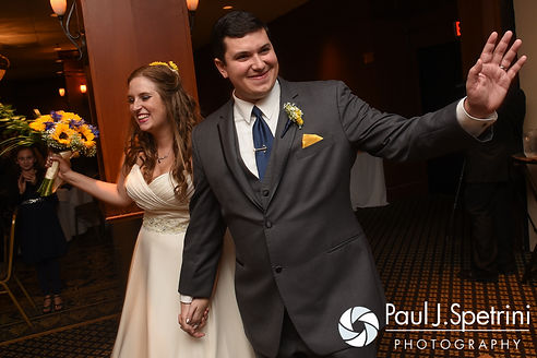 Kristin and Chris are introduced during their October 2016 wedding reception at the Ashworth by the Sea Hotel in Hampton, New Hampshire.