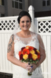 Justine poses for a photo prior to her October 2018 wedding ceremony at Twelve Acres in Smithfield, Rhode Island.