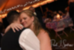Josh and Kim dance during their September 2018 wedding reception at their home in Coventry, Rhode Island.