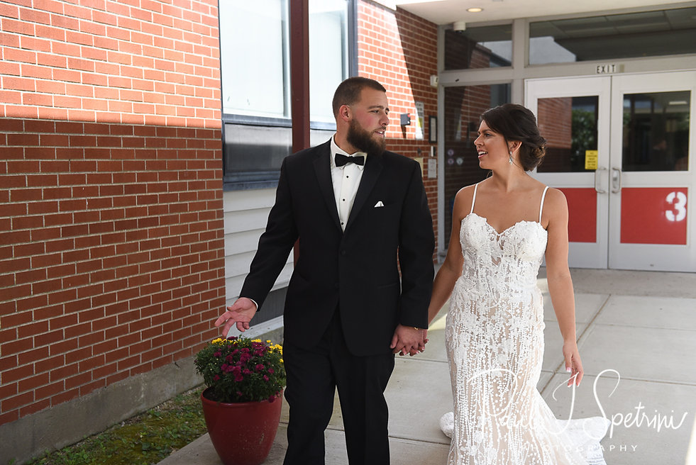 Rhode Island Wedding Photography, Bride and Groom First Formal Photos