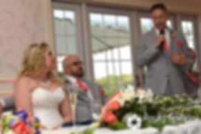 Eric's best man gives a toast during his May 2016 wedding at Hillside Country Club in Rehoboth, Massachusetts.