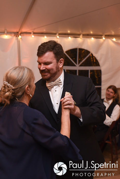 JD dances with his mom during his October 2016 wedding reception at The Farm at SummitWynds in Jefferson, Massachusetts.