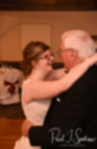 Kelly and her father dance during her June 2018 wedding reception at Blissful Meadows Golf Club in Uxbridge, Massachusetts.