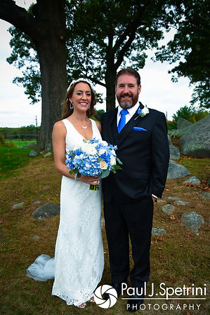 Kevin and Joanna pose for a formal photo following their October 2017 wedding ceremony at Cranston Country Club in Cranston, Rhode Island.