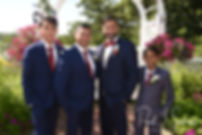 Jimmy poses for a photo with his groomsmen prior to his July 2018 wedding ceremony at Lake Pearl in Wrentham, Massachusetts.