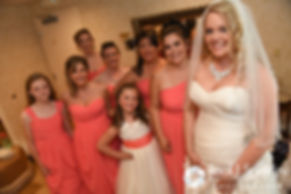 Michelle and her bridesmaids pose for a photo prior to her May 2016 wedding at Hillside Country Club in Rehoboth, Massachusetts.