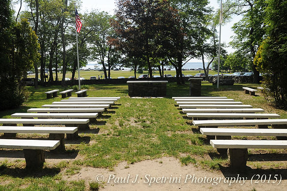 The wedding chapel area at Colt State Park in Bristol, Rhode Island.