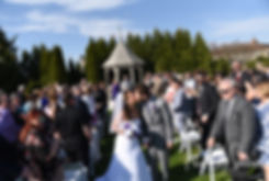 Sam and Katie kiss following their April 2018 wedding ceremony at Quidnessett Country Club in North Kingstown, Rhode Island.