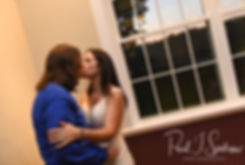 Amanda and Josh kiss during their October 2018 wedding reception at Loon Pond Lodge in Lakeville, Massachusetts.