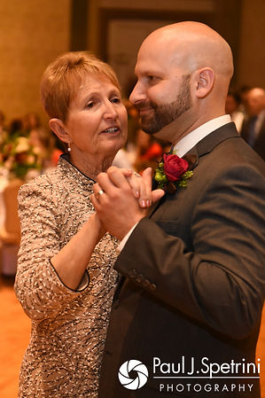 Kevin and his mother dance during his October 2017 wedding reception at the Providence Biltmore in Providence, Rhode Island.