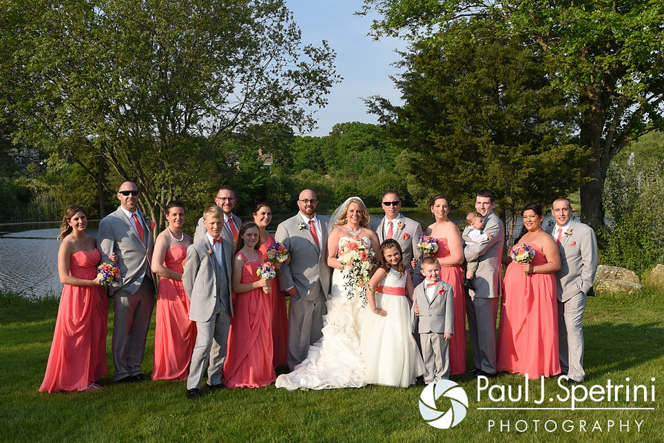 A look at Michelle and Eric's wedding party during their May 2016 wedding at Hillside Country Club in Rehoboth, Massachusetts.