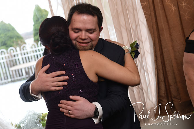 Gunnar hugs his mother in law following his December 2018 wedding ceremony at McGoverns on the Water in Fall River, Massachusetts.