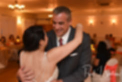Stephanie and her uncle dance during her June 2018 wedding reception at Foster Country Club in Foster, Rhode Island.