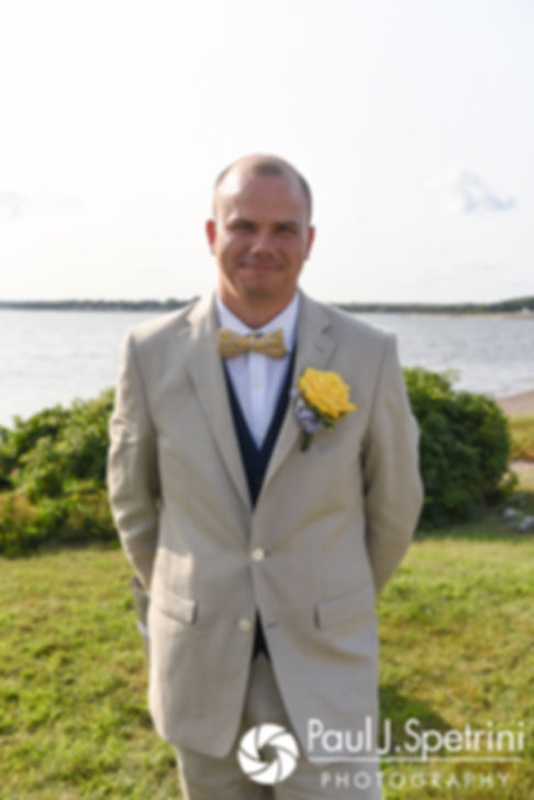 Kelly smiles for a photo prior to his August 2017 wedding ceremony in Warwick, Rhode Island.