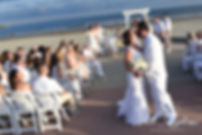 Mike and Selah kiss following their August 2018 wedding ceremony at The Rotunda Ballroom at Easton's Beach in Newport, Rhode Island.