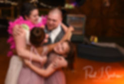 Adam & Ashley dance with their kids during their September 2018 wedding reception at Stepping Stone Ranch in West Greenwich, Rhode Island.