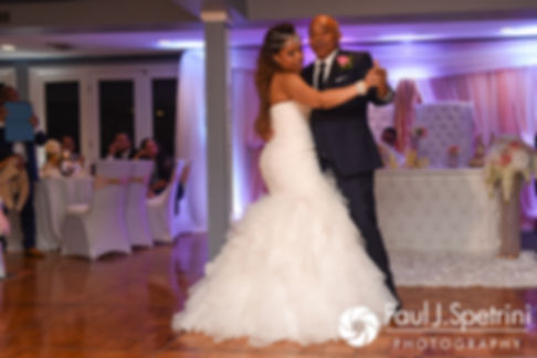 Lucelene dances with her father during her June 2017 wedding reception at Al's Waterfront Restaurant in East Providence, Rhode Island.