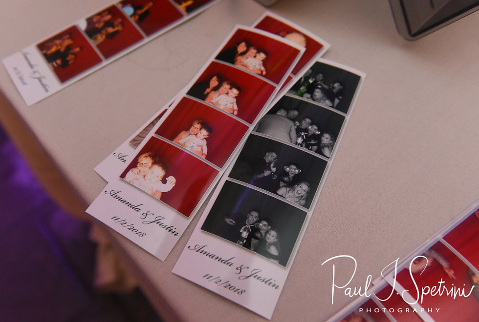 A look at photos from the photo booth during Amanda & Justin's November 2018 wedding reception at Five Bridge Inn in Rehoboth, Massachusetts.