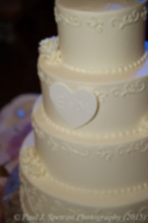 A look at Mike and Emma's wedding cake at their November 2015 wedding at the Publick House in Sturbridge, Massachusetts.