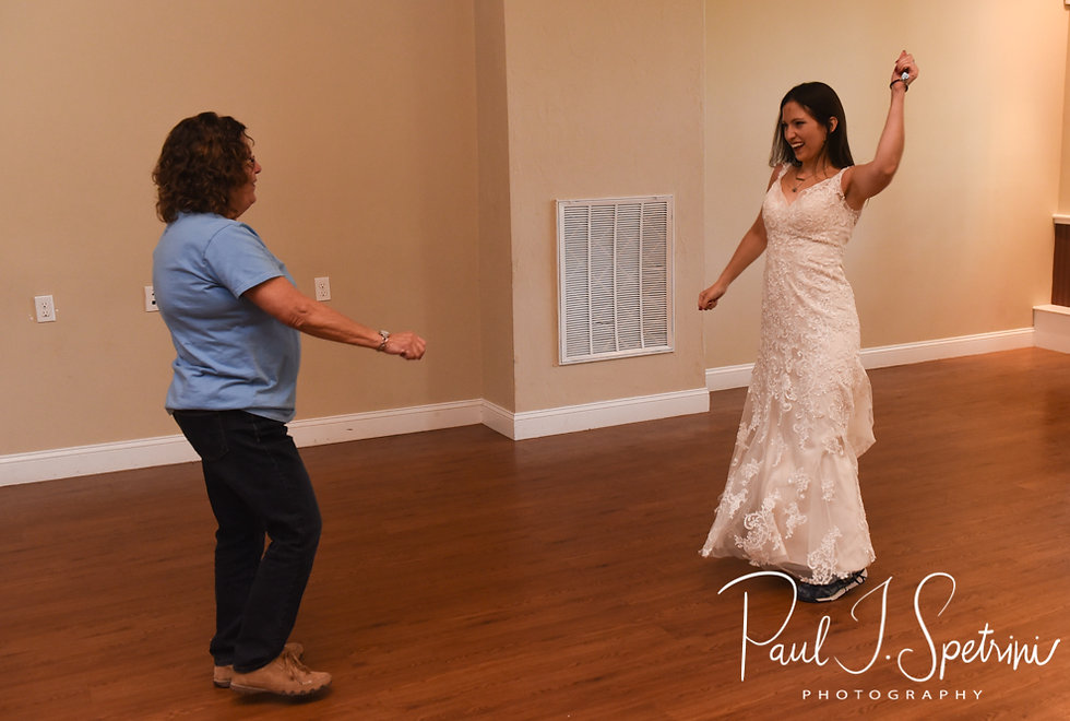 Amanda and her mother dance during her October 2018 wedding reception at Loon Pond Lodge in Lakeville, Massachusetts.
