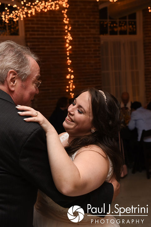 Meridith dances with her father during her May 2017 wedding reception at the Hope Artiste Village in Pawtucket, Rhode Island.