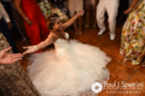 Lucelene goes to the floor during her June 2017 wedding reception at Al's Waterfront Restaurant in East Providence, Rhode Island.