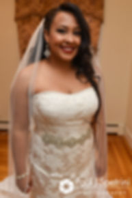 Stephany smiles prior to her September 2017 wedding ceremony at Wannamoisett Country Club in Rumford, Rhode Island.