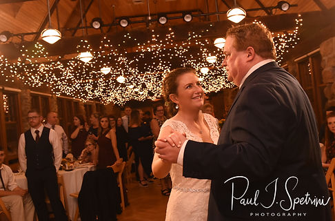 Allie and her father dance during her October 2018 wedding reception at The Towers in Narragansett, Rhode Island.