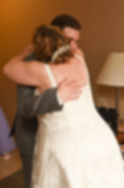 Robin hugs her son prior to her August 2018 wedding ceremony at Twelve Acres in Smithfield, Rhode Island.