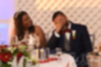 Jimmy reacts to his best man's speech during his July 2018 wedding reception at Lake Pearl in Wrentham, Massachusetts.
