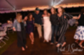 Kim dances with guests during her September 2018 wedding reception at their home in Coventry, Rhode Island.