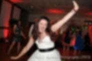Jamie dances during her August 2015 wedding at the Venus de Milo Restaurant in Swansea Massachusetts.