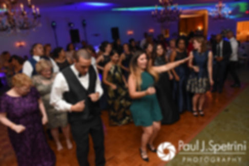 Arten dances with guests during his September 2017 wedding reception at Wannamoisett Country Club in Rumford, Rhode Island.